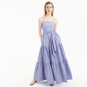 {J.Crew} Tiered Maxi Dress! Size 2